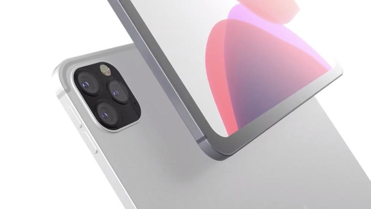 A nice iPad Pro concept with triple photo sensor