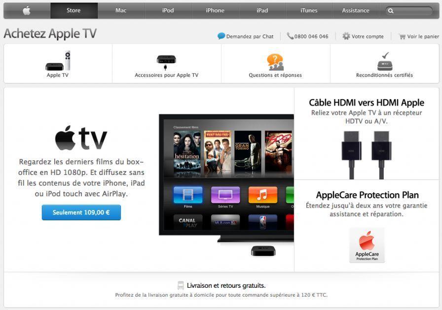 The Apple TV put forward