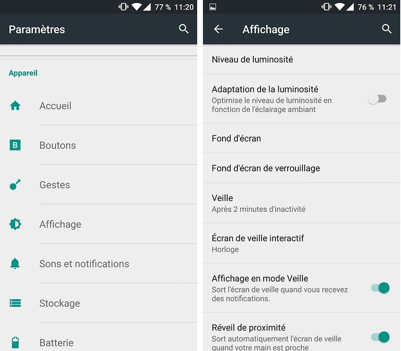 androidpit FR brightness adjustment