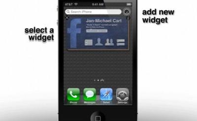 Concept: widgets in iOS