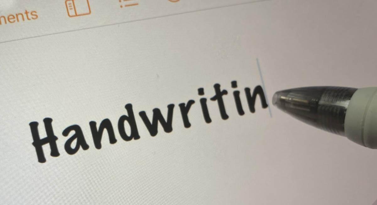 iPad calligraphie