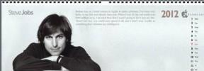 A 2012 calendar in honor of Steve Jobs