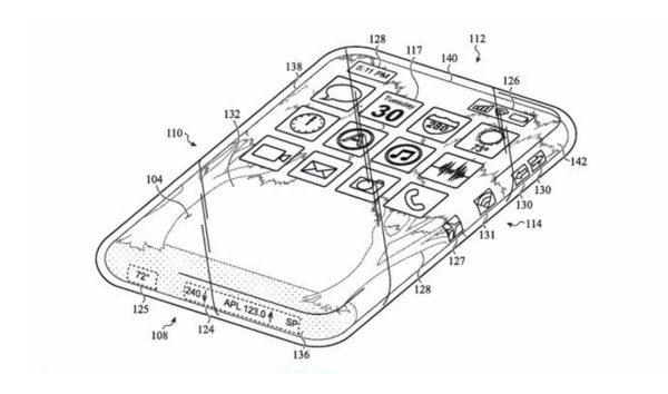 full-screen iPhone patent