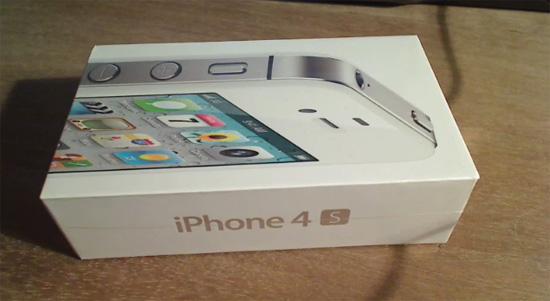 Belgium-iPhone unboxes the iPhone 4S box
