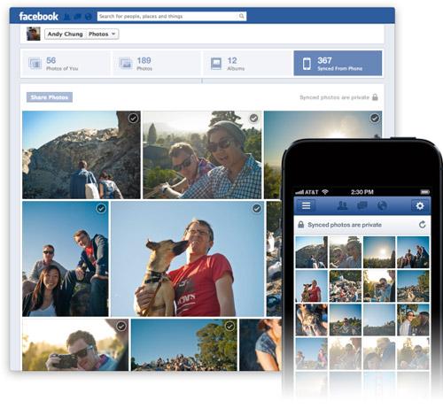 Facebook app for iOS automatically transfers photos