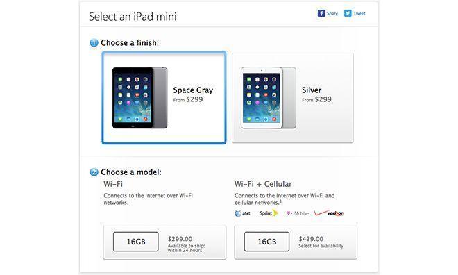 iPad Mini: space gray has arrived on non retina