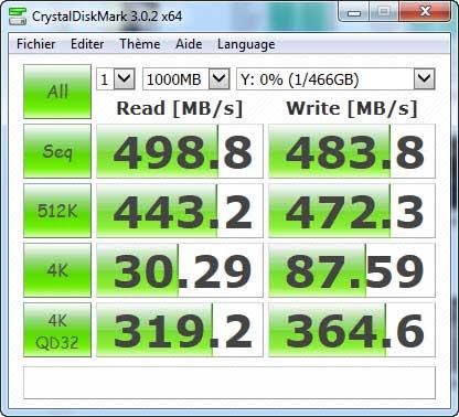 CrystalDiskMark / MX200 with 1 GB file