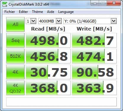 CrystalDiskMark / MX200 with 4 GB file