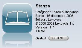 stanza - Tutoriel :  lire des eBooks et flux d