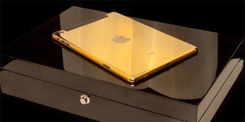 A gold iPad Air