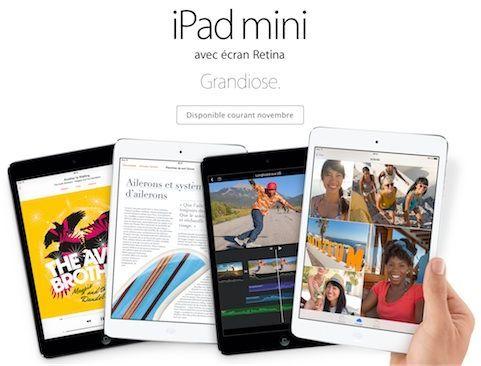 Availability of the iPad mini Retina on November 21?