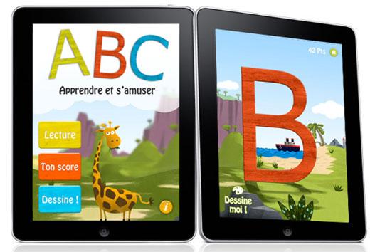 Learn the alphabet on the iPad - Belgium-iPhone