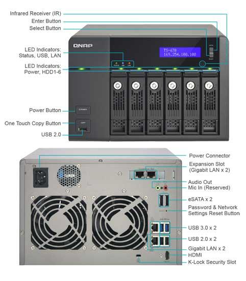 Qnap TS-670 features