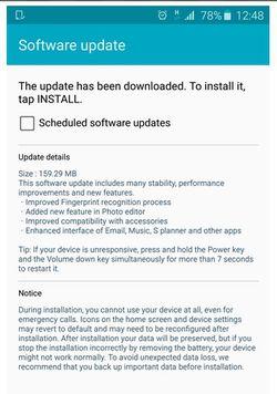 Samsung Galaxy S6 update