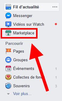Facebook Marketplace access