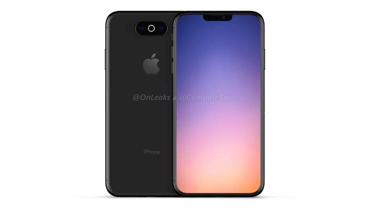 Rendering iPhone 2019 739x415 - iPhone of 2019: 3D renderings with triple horizontal photo sensor