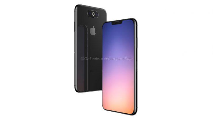 Rendering iPhone 2019 4 739x415 - iPhone of 2019: 3D renderings with triple horizontal photo sensor