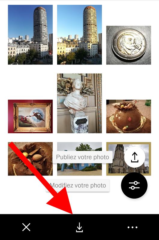vsco instagram interface
