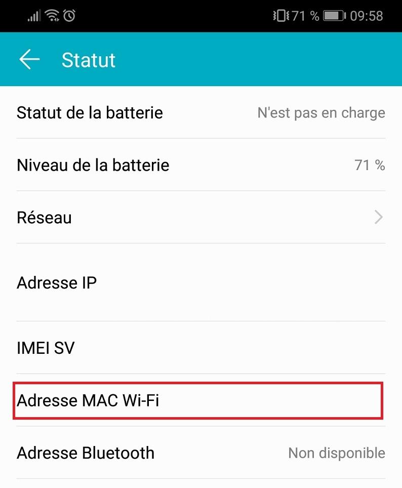 mac address smartphone