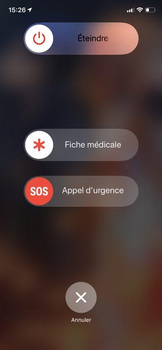 iphone extinguish emergency call medical file Consult the medical file, in emergency, of a locked iPhone