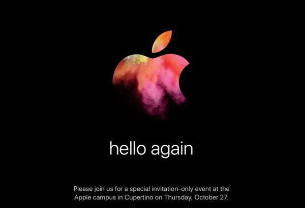 Invitation Keynote October 27, 2016 Apple - Apple: Keynote Macbook Pro & MacBook Air October 27 (official)