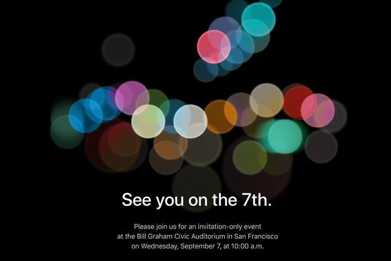 Apple Keynote Invitation September 7, 2016 iphone 7 - Apple: iPhone 7 keynote set for September 7 (official)