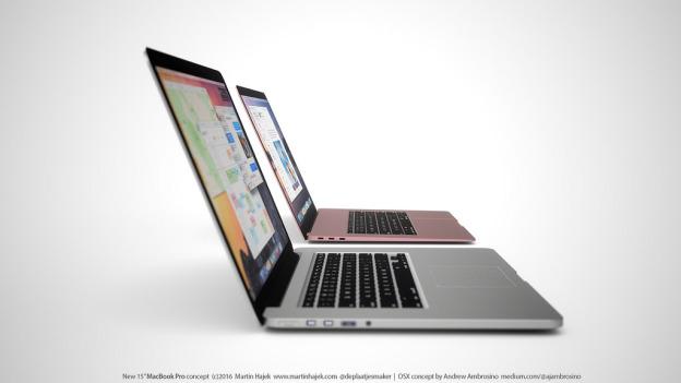 ultra thin MacBook Pro concept Martin Hajek 2 - MacBook Pro 2016: a presentation after the September keynote?