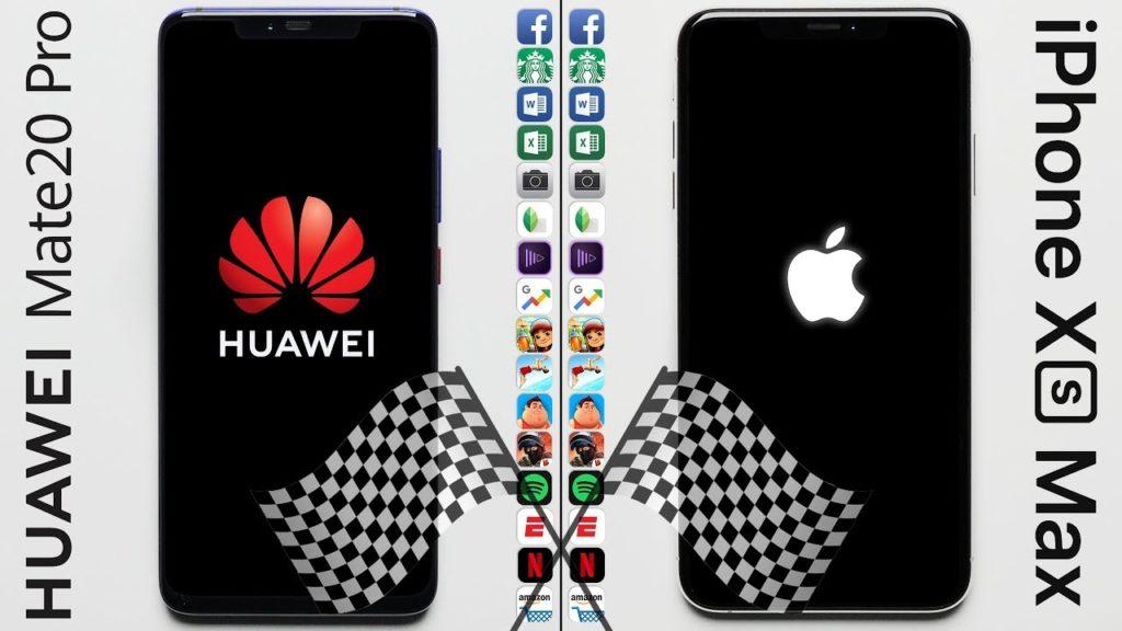 huawei mate 20 pro vs iphone xs max speed test 1024x576 - Speed Test: the iPhone XS Max surpasses the Huawei Mate 20 Pro