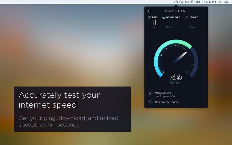 Speedtest Mac - Speed test: Speedtest finally available on Mac