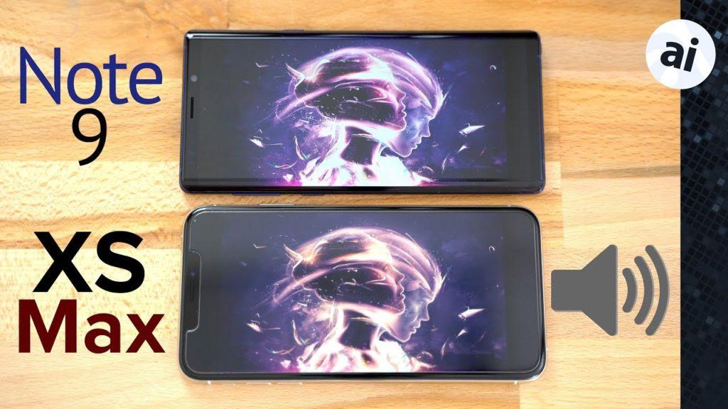 galaxy note 9 vs iphone xs max its speaker 1024x576 - iPhone XS Max vs Galaxy Note 9: which one has the best speakers?