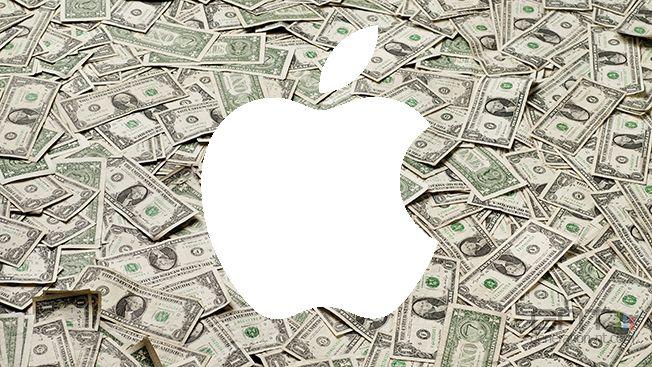 Apple dollars logo - Apple: $ 74.6 billion turnover in Q1 2015