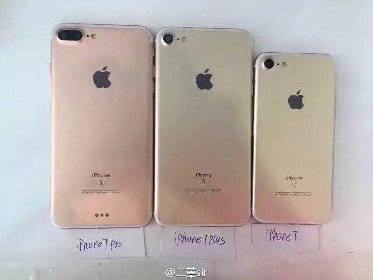 iphone 7 iphone 7 plus iphone 7 pro arriere - iPhone 7 & iPhone 7 Plus : leurs noms de code sont désormais connus
