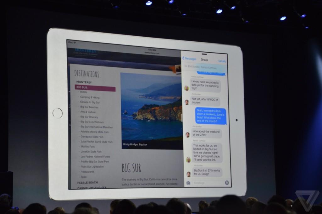 WWDC 2015 multitasking iPad 1024x683 - Keynote WWDC 2015: Apple unveils iOS 9