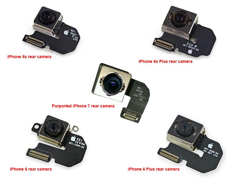 iPhone 7 iSight photo sensor - iPhone 7: photo of the photo sensor with optical stabilizer?