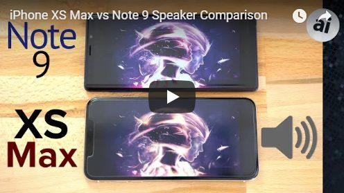 IPhone Xs Max v Galaxy Note 9 screenshot: sound quality comparison