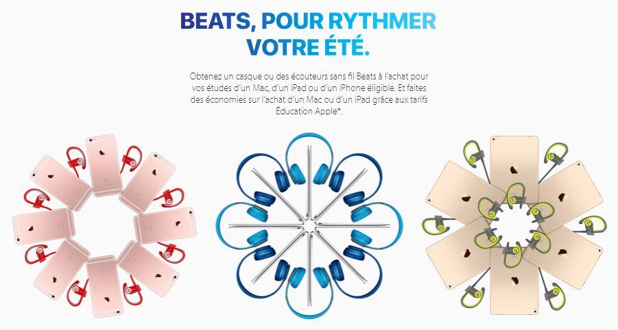 Apple Back to school 2016 France - Back to School 2016 (France): Apple offers Beats headphones & earphones