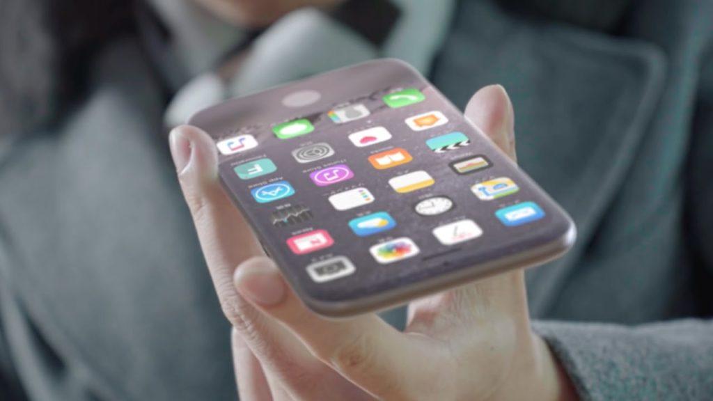 concept iphone 8 borderless screen wireless charging 1024x576 - Concept: an iPhone 8 with borderless screen and wireless charging