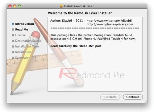 ramdisk PwnageTool 4.2 Tutorial: Jailbreak iOS 4.3 GM for iPhone 4 [MAC]