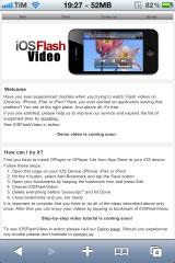 220 iOSFlashVideo Tutorial: Playing Flash Videos Without Jailbreak