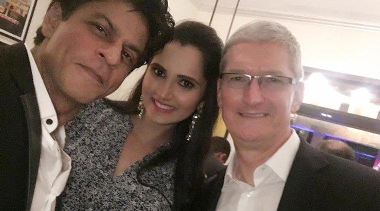 Shahrukh Khan tim cook - Une star de Bollywood pour représenter Apple en Inde ?