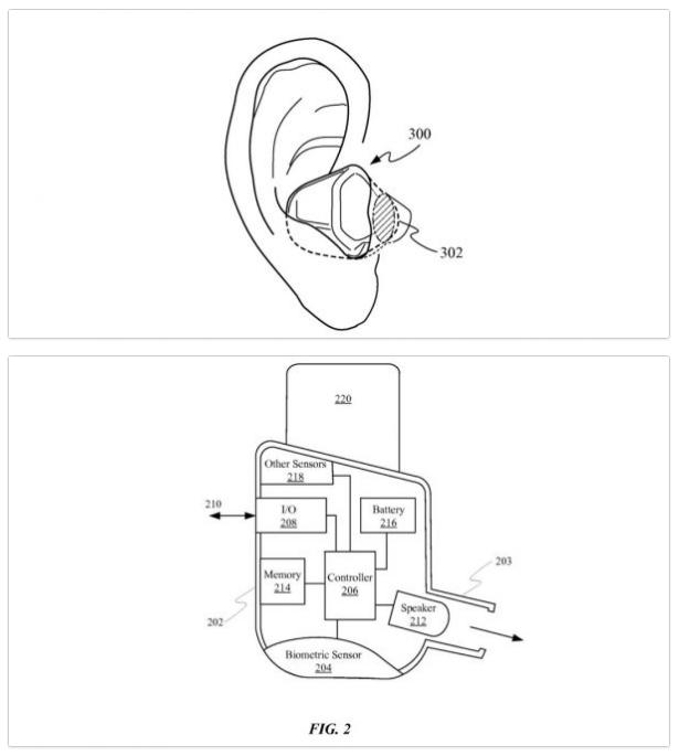 airpods biometriques brevet apple  - AirPods : des fonctions biométriques et de santé en approche ?