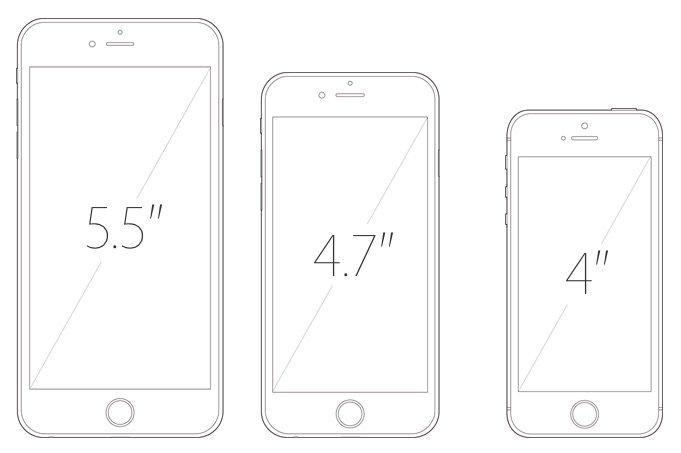 iPhone tailles ecrans 5.5 4.7 4 pouces - Apple : iPhone 4 pouces dès 2016 & 3Go de RAM sur l