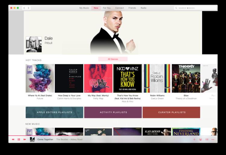 Concept Apple Music Application Mac - Apple Music : un concept d