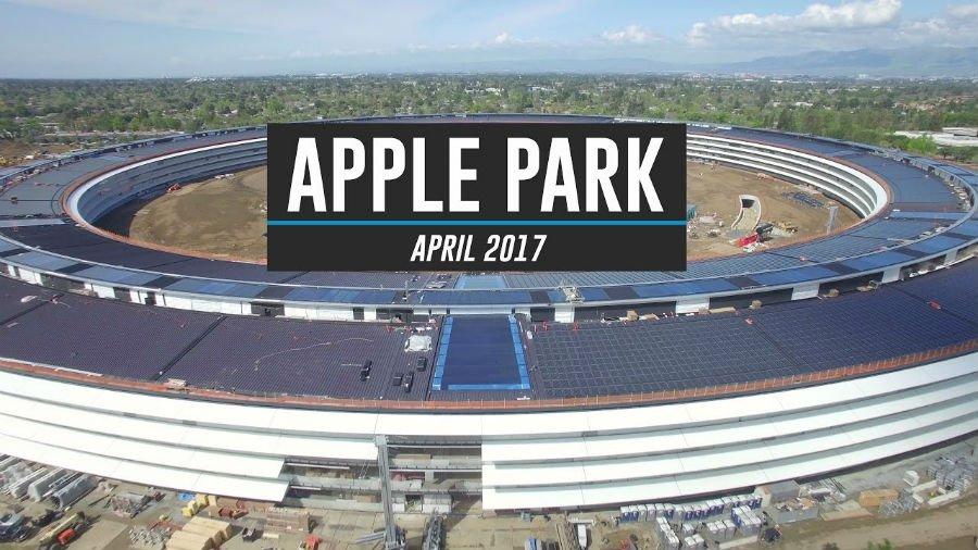 Apple Park Avril 2017 Campus 2 - Apple Park : nouveau survol par un drone avant son ouverture en avril