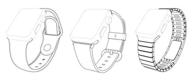 Apple Watch bracelets brevets - Apple dépose 3 brevets pour ses bracelets d