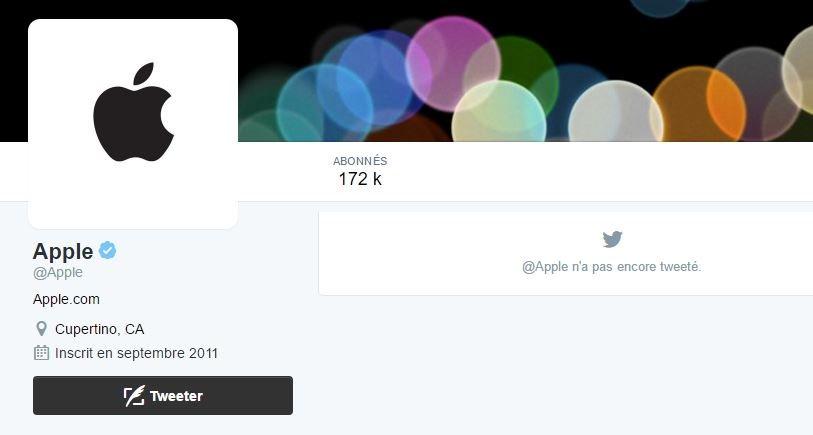 apple compte officiel twitter - Apple a enfin son compte officiel sur Twitter (@Apple)