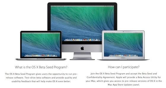 Apple OS X Beta Seed Programme - Apple rend accessible à tous son programme de bêta d'OS X