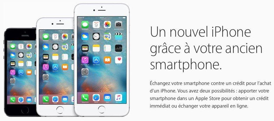 apple met en avant son programme de reprise et achat a credit pour les iphone - Apple propose reprise & achat à crédit d