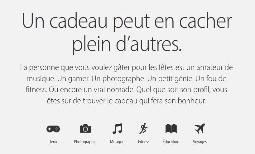 Guide fetes fin annee 2015 Apple - Apple : le guide des fêtes de fin d