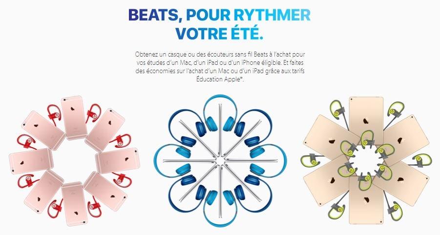 Apple Back to school 2016 France - Back to School 2016 (France) : Apple offre casque & écouteurs Beats